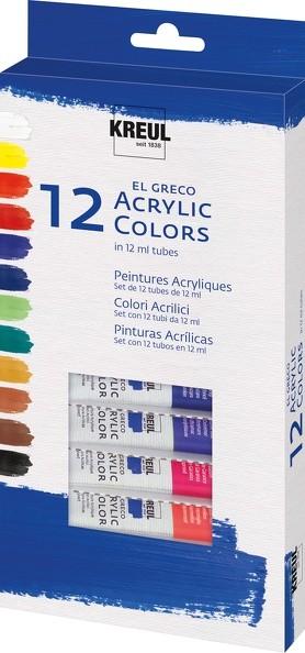 KREUL el Greco Acrylic 12er Set | Acrylfarbe