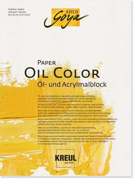 KREUL SOLO GOYA Paper Oil Color | Ölmalblock 300 g/m²