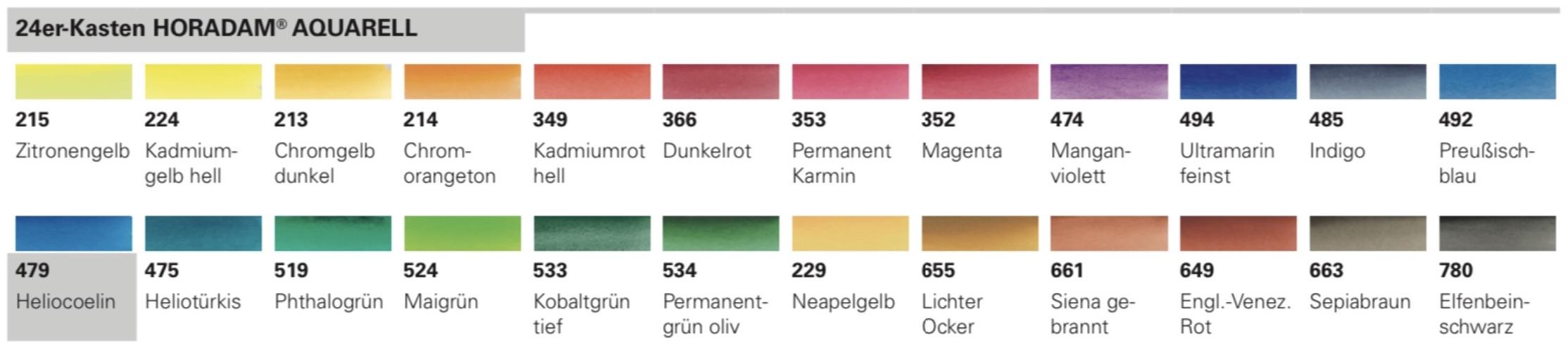 Schmincke-HORADAM-AQUARELL-Farbtoene-24er-Kasten