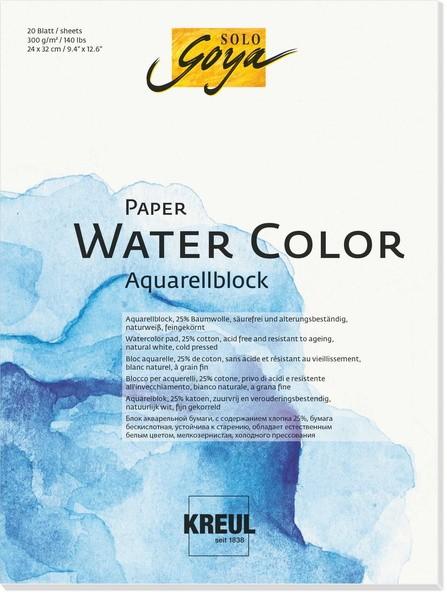 KREUL SOLO GOYA Paper Water Color | Aquarellblock 300 g/m²